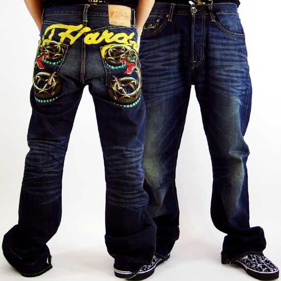 Ed hardy mens denim jeans snake mcqueen wash ed hardy men s denim
