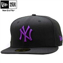 New era Cap パープルロゴ New York Yankees black / deep magenta New Era Cap Purple Logo New York Yankees Black/Deep Magenta