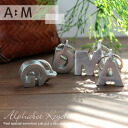 An alphabet key ring of simple, cool aluminum! (accessories key charm initial bag bag charm initial car bicycle motorcycle ぺ アペンダントトップキーリングネックレス )ФФФ)