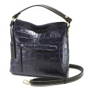 Lime ☆ Maxim black co-L1750 ☆ navy crocodile type push ☆ leather two-way shoulder bag ☆ slant credit bag ☆ traveling bag fs3gm