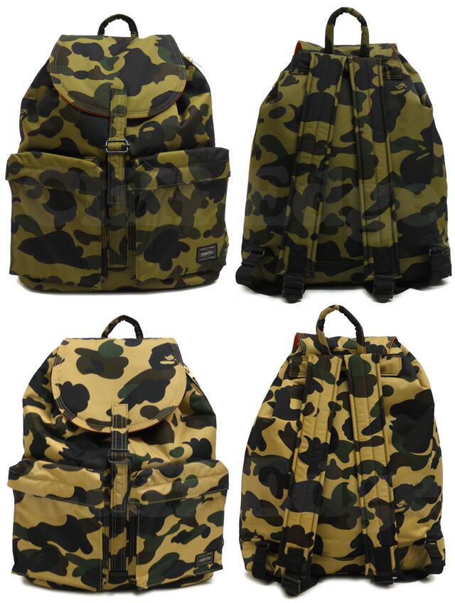 Cliff edge rakuten global market a bathing ape ape x for Bape x porter backpack
