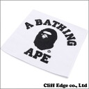 A BATHING APE COLLEGE HAND TOWEL (핸드 타올) WHITE 290-002805-010 (1080-182-013)-