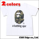 A BATHING APE BAPE KIDS 1 ST CAMO A BATHING APE TEE (긴소매 T셔츠) 200-005862-115(1 A30-310-038)-