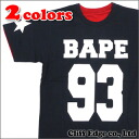 A BATHING APE BAPE 93 REVERSIBLE TEE (리버시블)(T셔츠)200-005885-000(1 A30-109-005)-