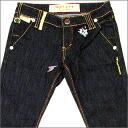 GARCIAMARQUEZ ( galciamarques ) crystal ball Stella Tennant stretch jeans INDIGO