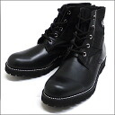 mastermind JAPAN mastermind ( Japan ) Zip selection and 193-000026-301 BLACK leather boots