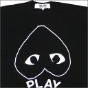 PLAY COMME des GARCONS (플레이 닷컴 드 르 손) 꺼 꾸로 흰색 하트 티셔츠 BLACK 200-003288-061x