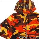 SUPREME (슈 프림) Hooded Foil Logo Zip Up (지퍼 후드) ORANGE CAMO 212-000946-038x
