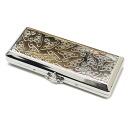 지금 아이 구입 금액 5, 000 엔 (세금 별도) 이상에서 배송 중!! (01/05) Vivienne Westwood (비비 안 웨스트 우드) ORB 패턴 담배 케이스 SILVER 290-001996-012x
