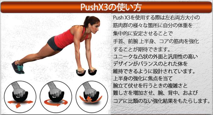 プッシュX3の使い方