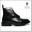 Trickers TRICKER's MALTON COUNTRY BOOT M2508 BLACK BOX CALF ダイナイトソール country boots M2508 black box calf black Tricker's