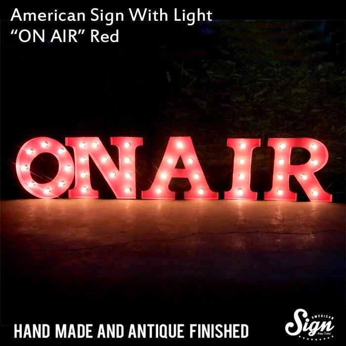 アメリカンサイン ウィズ ライト 「ON AIR」レッド