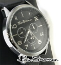 Ben Sherman Ben Sherman chronograph black circle face watch men's mod fashion Black Watch analog watch leather leather belt UK MOD BenSherman r562