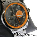Ben Sherman Ben Sherman chronograph Orange face watch men's new mod fashion Chronograph gunmetal stainless steel belt arm Watch analog Watch UK MOD r716