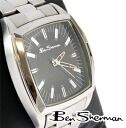 Ben Sherman Ben Sherman black face watch men's mod fashion stainless steel Stainless Steel Watch analog Watch UK MOD r732