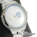 Ben Sherman Ben Sherman chronograph white face watch men's mod fashion stainless steel Stainless Steel Watch analog Watch Blue new UK MOD r812