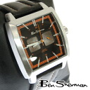 Ben Sherman Ben Sherman black face watch men's new mod fashion chronograph Chronograph Orange stitching Black Black Leather leather belt Leather arms watches analog watches UK MOD r830