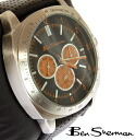 Ben Sherman Ben Sherman black face Orange Chronograph Watch mens new mod fashion Chronograph Black Face Orange Leather leather belt Leather arms Watch analog watch tachymeter UK MOD r849