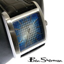 Ben Sherman Ben Sherman blue face watch men's new mod fashion Sunburst organiccotton houndstooth check dogtooth Dogtooth leather leather belt arm watches analog watches UK MOD r860