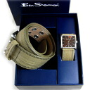 Ben Sherman watch Ben Sherman & belt leather leather BOX set olive green mens translation and outlet BenSherman Ben Sherman gift watch men mens r25680bs