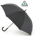 Fulton FULTON umbrella umbrella men's Knightsbridge gentleman standard length umbrella United Kingdom Royal warrant new Knightsbridge stripe black jump umbrella Umbrella umbrella mod fashion United Kingdom London fultong451citystripeblack