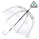 FULTON Fulton umbrella umbrella bird cage length umbrella United Kingdom Royal purveyors new clear transparent white White ladies BirdCage Umbrella umbrella birdcage mod fashion United Kingdom London fultonl041white