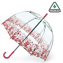 Fulton umbrella umbrella birdcage FULTON floral border long umbrella United Kingdom Royal purveyors new clear transparent floral flower ladies BirdCage Umbrella umbrella birdcage Fulton fashion United Kingdom London fultonl042floralborder