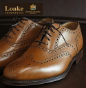 Loake England Rourke England men's premium blog shoes BUCKINGHAM Buckingham 1880 Tan-United Kingdom Goodyear Welted United Kingdom brand パーフォレイト wingtip leather leather shoes leather shoes United Kingdom Royal loakebuckinghamtan * 25 * 26