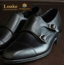 Loake England Rourke England mens leather monk shoes CANNON United Kingdom brand Canon Monk Shoes double buckle leather leather leather shoes leather shoes Black Black mod United Kingdom United Kingdom Royal loakecannonblack * 25 * 26 * 27