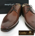 Loake England Rourke mens shoes EVERETT United Kingdom brand business leather Calf Twin Seam Derby Brown casual style EMI Lolita this cowhide leather shoes mod UK United Kingdom Royal loakeeverettbrown * 28