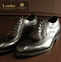 Loake England Rourke England Oxford brogue leather shoes Heston Heston 1880-United Kingdom men's leather leather United Kingdom brand shoes leather shoes wing tip Medallion Black United Kingdom Royal loakehestonblack * 26 * 27