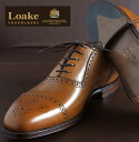 Loake England Rourke England United Kingdom brand men's shoes STRAND 1880-United Kingdom business leather Semi Brogue Brown strands セミブローグ straight tip shoes leather shoes genuine leather London United Kingdom Royal loakestrandbrown * 25 * 28