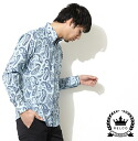 RELCO レルコ Paisley long sleeve shirt mens 2013 new mod fashion Paisley Shirt long sleeve shirt sky Navy Sky Navy cotton button-down UK モッズシャツ モッズファッション mshtps2 * s * m * l * xl
