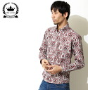 RELCO レルコ Aloha shirt short sleeve shirt mens 2013 new mod fashion floral hibiscus Aloha Paper Print Flower Shirt short sleeve shirt black Black cotton wood button UK モッズシャツ モッズファッション mshthw6black * s * l * xl