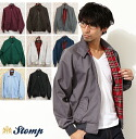 STOMP Stomp 10 swing top Harrington jacket men's outerwear made in United Kingdom new Harrington Jacket swing top swing jacket red tartan check UK MOD fashion schj * xs * s * m * l * xl