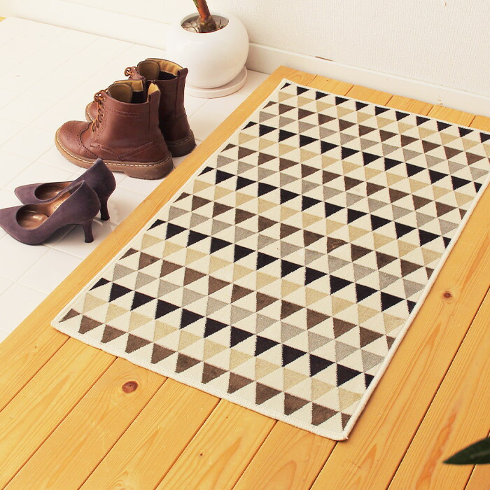 Triangle-Motif Doormat