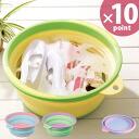 Folding bucket software tab SOFT TUB 12L (foldable tub) [Ise wisteria]