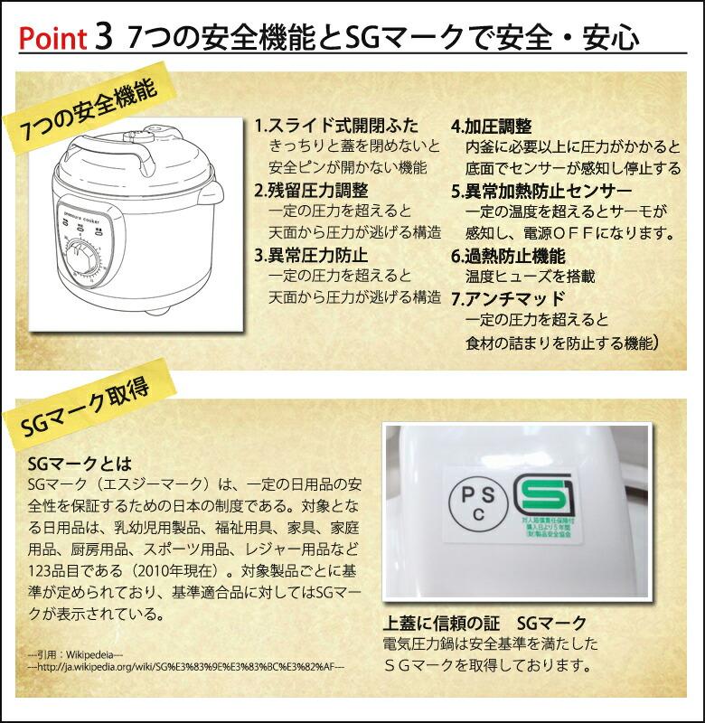 電気圧力鍋 鍋にお任せできる安心の理由