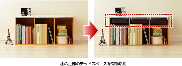 棚の上部のデッドスペースを有効活用
