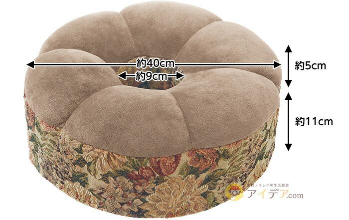 直径40×高さ16cm 、穴の直径9cm