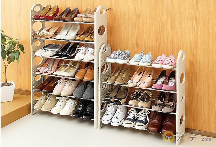 玄関のスペースや靴の数に合わせてアレンジ