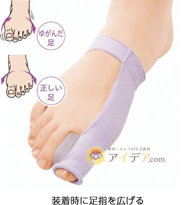 装着時に足指を広げる