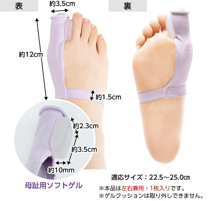 適応サイズ:22.5〜25.0cm
