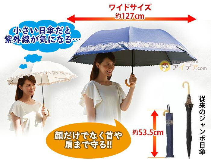 小さい日傘だと紫外線が気になる…顔だけでなく首や肩まで守る!!