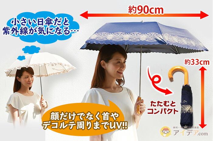 小さい日傘だと紫外線が気になる…顔だけでなく首やデコルテ周りまでUV!!