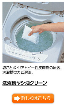 洗濯槽ヤシ油クリーン