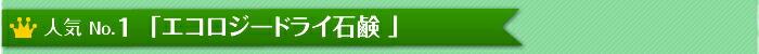 人気No.1「エコロジードライ石鹸」