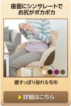 腰すっぽり座れる毛布