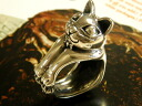 ■ cats like absolute Hummel ■ ファニーキャットリング Neko — Mon ネコモン ネコグッズ cat's Black Star power stone ring cat ring silver cat Cafe accessories animal animal