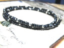 Silver Silver 925 with blue spinel &Silver consolidated chain Black diamonds black spinel necklace ブラックスピネルネックレス celebrity (exile arashi, EXILE) men's accessories 10P02jun13